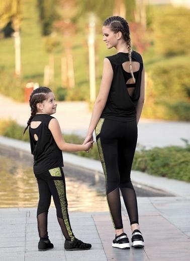 Lingabooms Kadın Pijama 4 Mevsim Çizgili T-Shirt Tek Üst Siyah